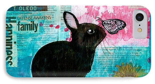 Bun And Butterfly IPhone Case by Penny Collins