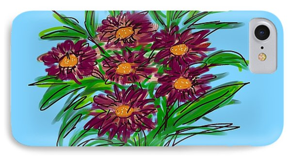 IPhone Case featuring the digital art Bunch Of Daisies by Christine Fournier