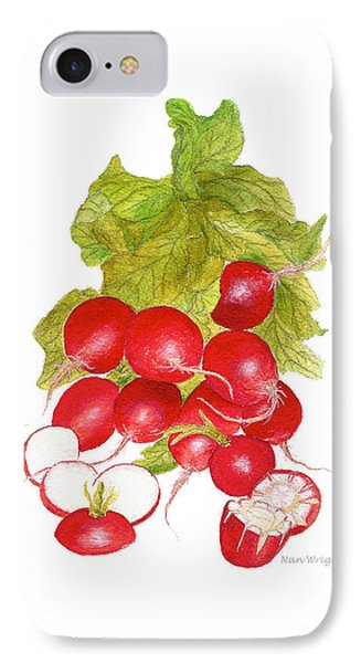 Bunch Of Radishes IPhone Case by Nan Wright
