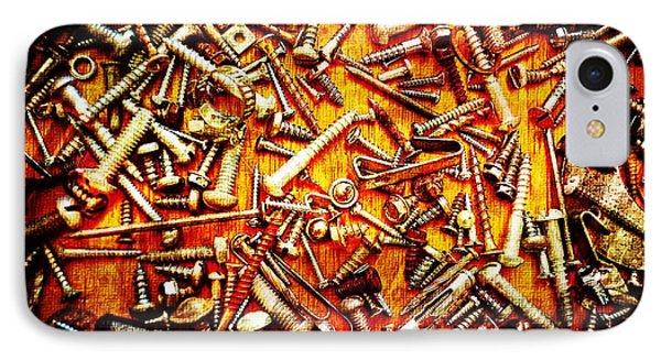 Bunch Of Screws 4 - Digital Effect Phone Case by Debbie Portwood