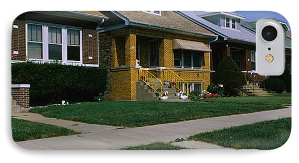 Bungalows In A Row, Berwyn, Chicago IPhone Case by Panoramic Images