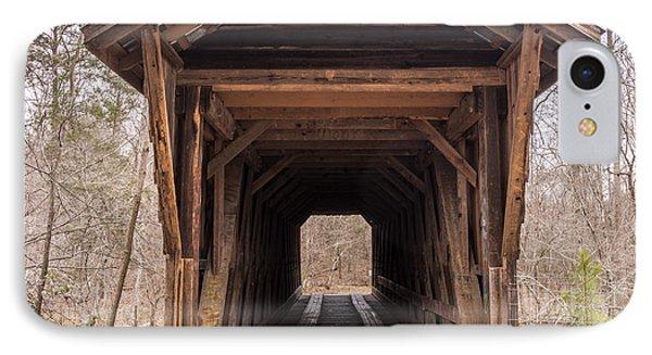 Bunker Hill Covered Bridge 1 IPhone Case by Randy Scherkenbach