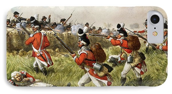 Bunkers Hill, 1775 IPhone Case by Richard Simkin