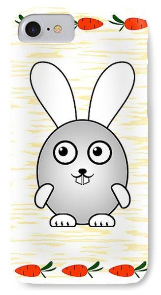 Bunny - Animals - Art For Kids IPhone Case by Anastasiya Malakhova