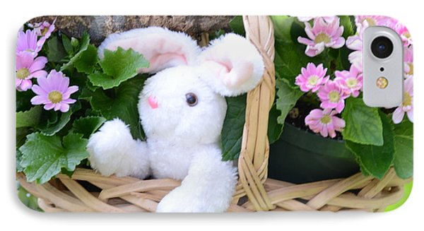 Bunny In A Basket Phone Case by Kathleen Struckle