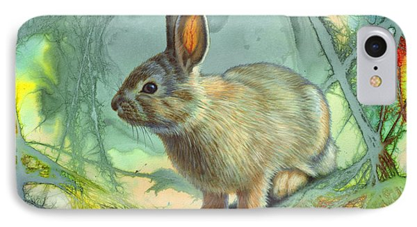 Bunny In Abstract IPhone Case by Paul Krapf