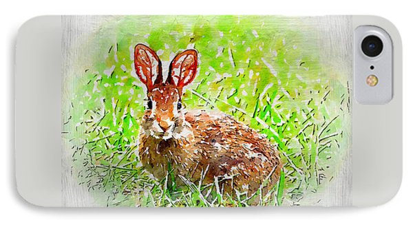 Bunny - Watercolor Art Phone Case by Kerri Farley