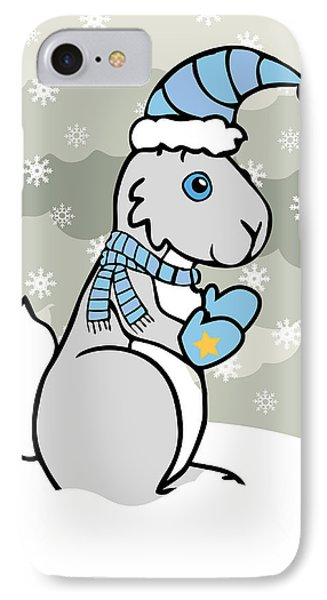 Bunny Winter Phone Case by Christy Beckwith