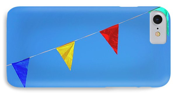 Bunting iPhone 7 Case - Bunting Against A Blue Sky by Cordelia Molloy
