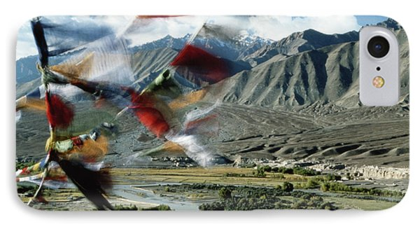 Bunting iPhone 7 Case - Bunting Flying In Sky With Kunlun by John and Lisa Merrill