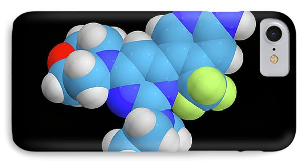 Buparlisib Experimental Drug Molecule IPhone Case by Dr Tim Evans