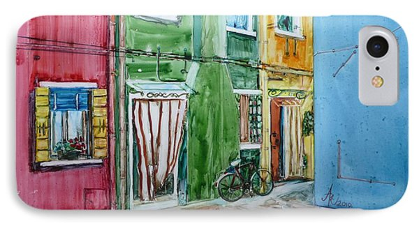 IPhone Case featuring the painting Burano by Anna Ruzsan