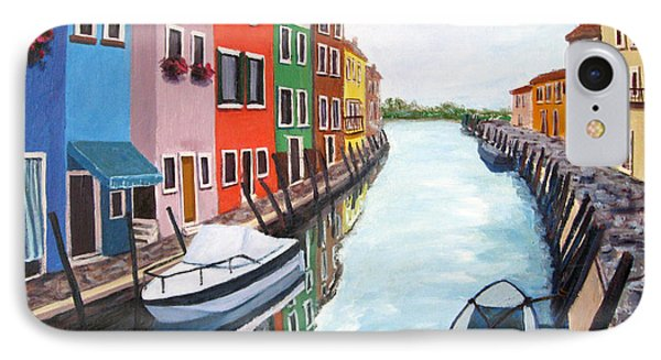 IPhone Case featuring the painting Burano by Cheryl Del Toro