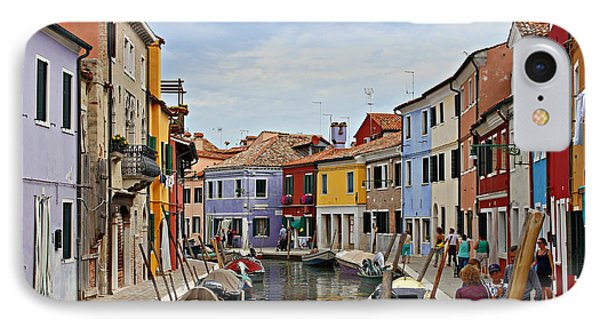 IPhone Case featuring the photograph Burano Island by Cendrine Marrouat