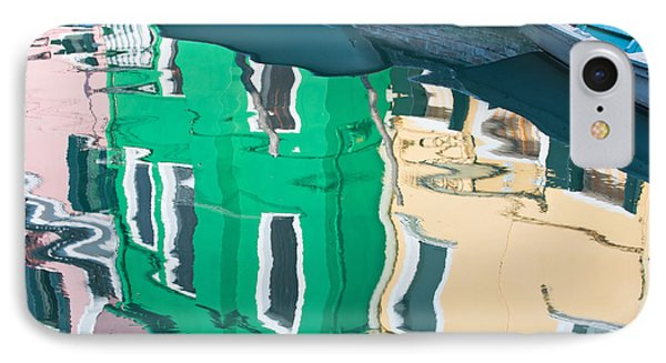 Burano Reflected IPhone Case by Joan Herwig