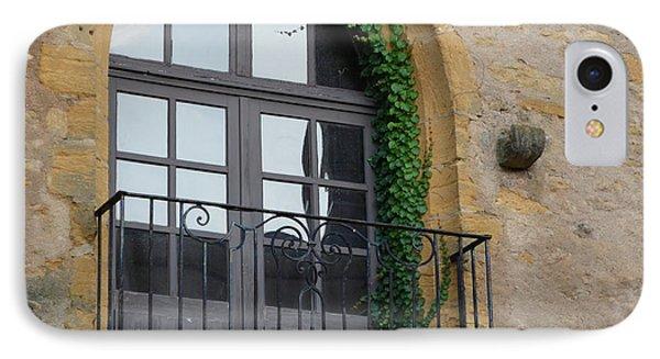Burgundy Window IPhone Case by Cheryl Miller