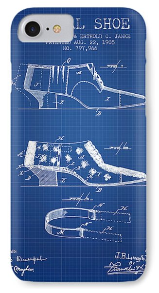 Burial Shoe Patent From 1905 - Blueprint IPhone Case by Aged Pixel