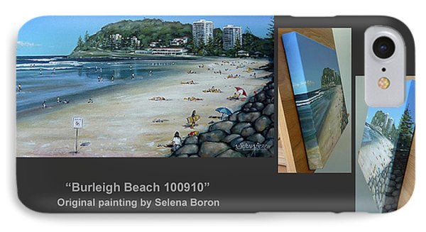 IPhone Case featuring the painting Burleigh Beach 100910 Comp by Selena Boron