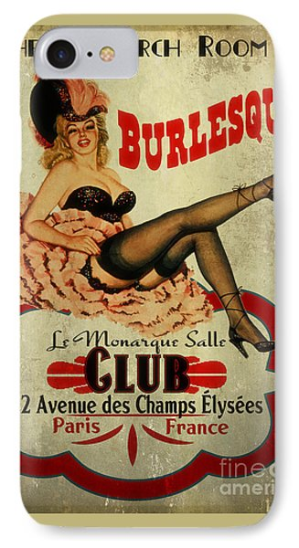 Burlesque Club IPhone Case by Cinema Photography