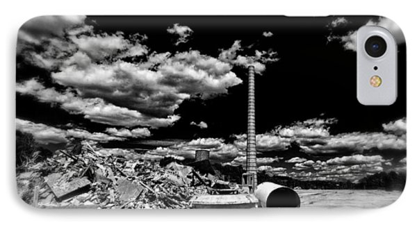 IPhone Case featuring the photograph Burlington Klopman Remains by Alan Raasch