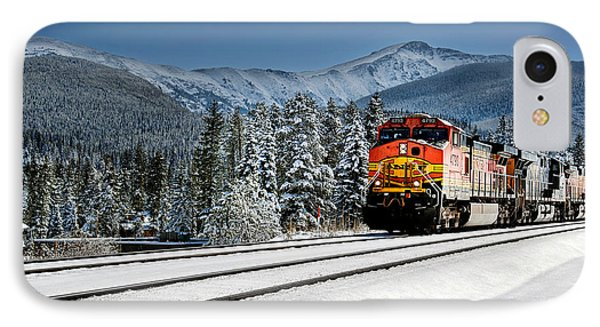 Burlington Northern Santa Fe IPhone Case by James David Phenicie