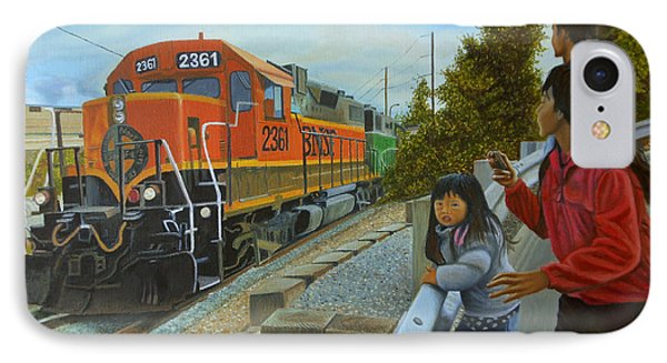 Burlington Northern Santa Fe IPhone Case by Thu Nguyen