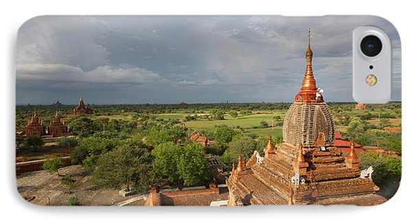 Burma Myanmar, Buddhist Pagoda Bagan IPhone Case
