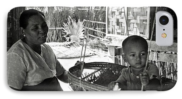 Burmese Grandmother And Grandchild IPhone Case by RicardMN Photography