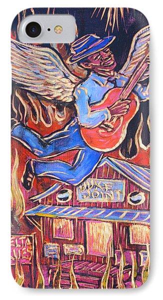 Burnin' Blue Spirit Phone Case by Robert Ponzio