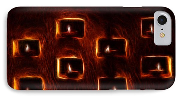 Burning Candles Fractal Art IPhone Case by Image World
