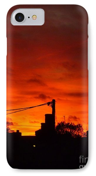 Burning Sky Phone Case by Vicki Spindler