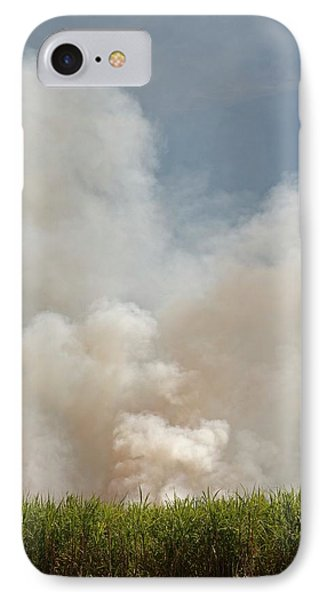 Burning Sugar Cane IPhone Case by Jim West