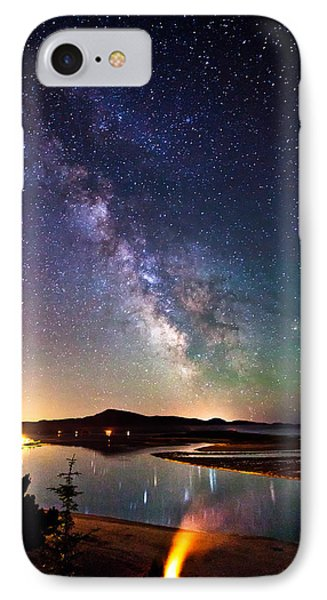 Burning The Milky Way IPhone Case