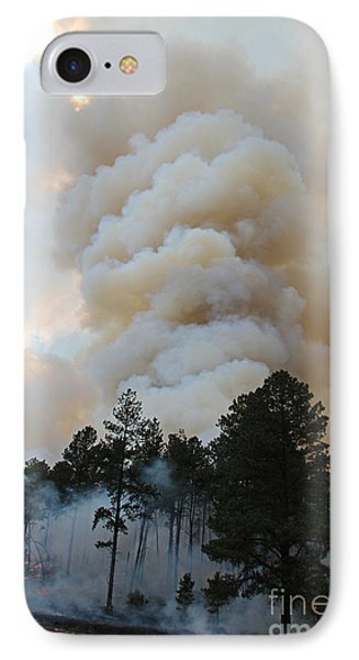 Burnout Near Song Dog Road IPhone Case