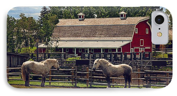 Burns' Barn IPhone Case by Maria Angelica Maira