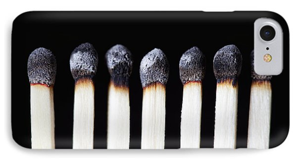 Burnt Matches On Black IPhone Case