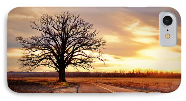 Burr Oak Silhouette IPhone Case