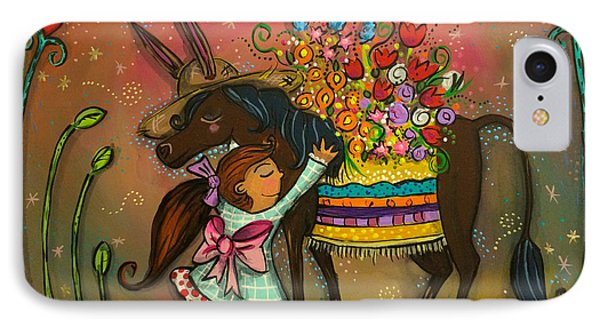 IPhone Case featuring the painting Burro Hugs by Marti McGinnis
