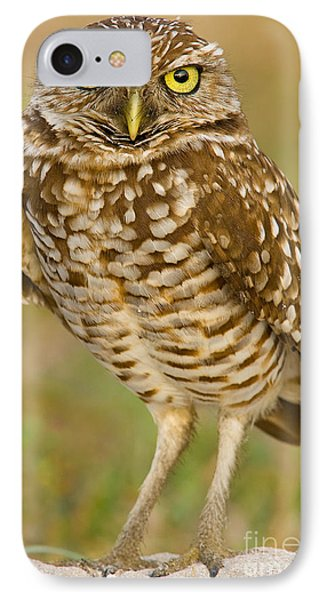 Burrowing Owl Phone Case by Jerry Fornarotto
