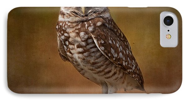 Burrowing Owl Portrait Phone Case by Kim Hojnacki