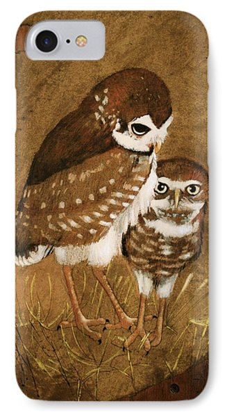 Burrowing Owls IPhone Case by Richard Hinger