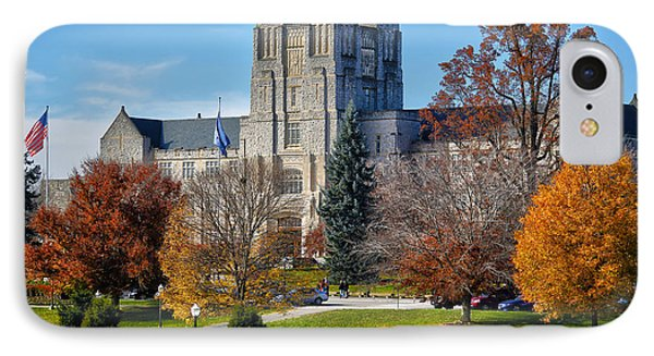 Burruss Hall IPhone Case by Mitch Cat
