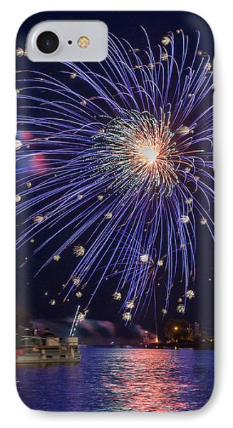 Burst Of Blue IPhone Case