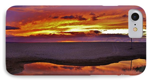 Burst Of Sunset Improves Overcast Day IPhone Case by Craig Wood