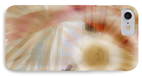 IPhone Case featuring the digital art Bursting Brushes by Constance Krejci