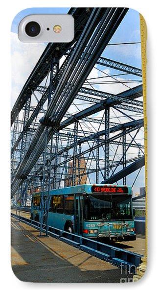 Bus Crossing The Smithfield Street Bridge Pittsburgh Pennsylvania IPhone Case