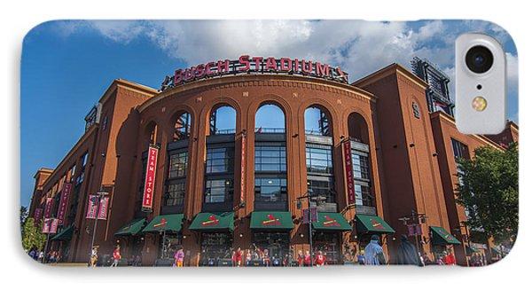 Busch Stadium Clouds IPhone Case by David Haskett
