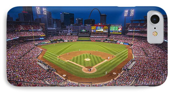 Busch Stadium St. Louis Cardinals Night Game IPhone Case