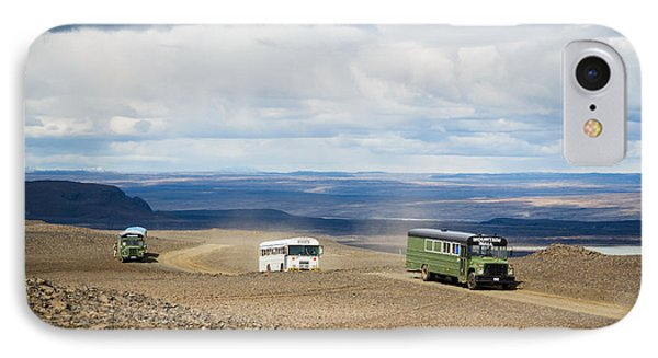 IPhone Case featuring the photograph Buses Of Landmannalaugar by Peta Thames