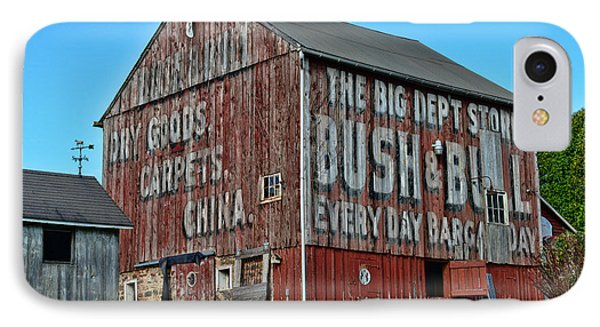 Bush And Bull Roadside Barn IPhone Case by Paul Ward